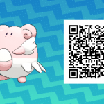 034 Pokemon Sun and Moon Shiny Blissey QR Code