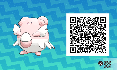 pokemon sun and moon shiny blissey qr code