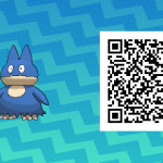 035 Pokemon Sun and Moon Shiny Munchlax QR Code