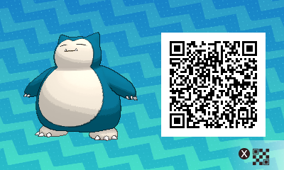 036 Pokemon Sun and Moon Snorlax QR Code