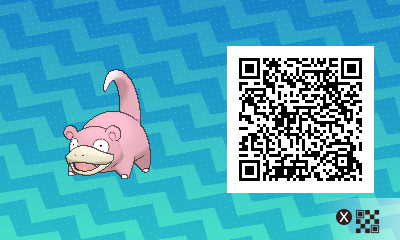 037 Pokemon Sun and Moon Slowpoke QR Code