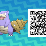 038 Pokemon Sun and Moon Shiny Slowbro QR Code