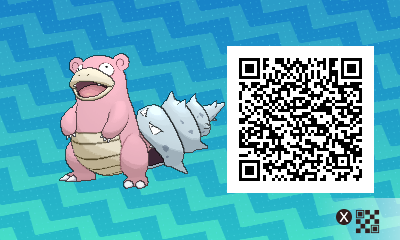 038 Pokemon Sun and Moon Slowbro QR Code