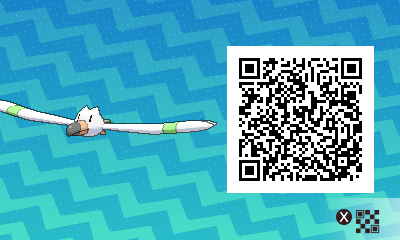 040 Pokemon Sun and Moon Shiny Wingull QR Code