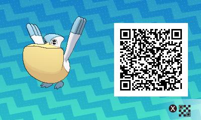 041 Pokemon Sun and Moon Pelipper QR Code