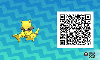 042 Pokemon Sun and Moon Abra QR Code