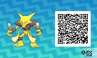 044 Pokemon Sun and Moon Male Alakazam QR Code
