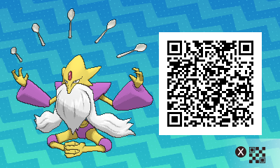 Pokemon Sun And Moon Shiny Mega Alakazam Qr Code