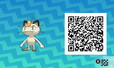 045 Pokemon Sun and Moon Meowth QR Code