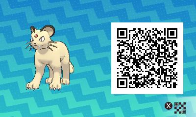 046 Pokemon Sun and Moon Persian QR Code
