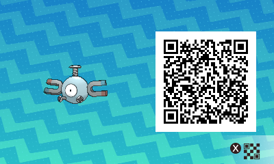 047 Pokemon Sun and Moon Magnemite QR Code