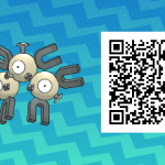 048 Pokemon Sun and Moon Shiny Magneton QR Code