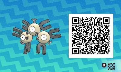048 Pokemon Sun and Moon Shiny Magneton QR Code