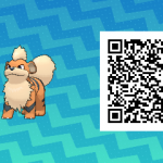 052 Pokemon Sun and Moon Growlithe QR Code