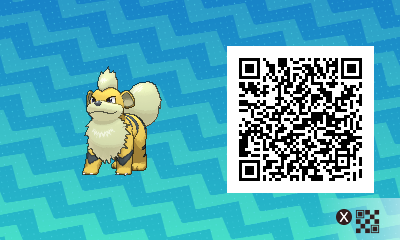 052 Pokemon Sun and Moon Shiny Growlithe QR Code