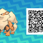 053 Pokemon Sun and Moon Arcanine QR Code