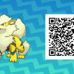 053 Pokemon Sun and Moon Shiny Arcanine QR Code
