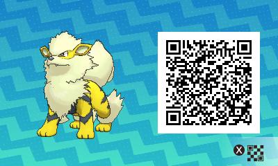 053 Pokemon Sun and Moon Shiny Arcanine QR Code