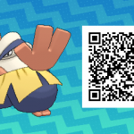 057 Pokemon Sun and Moon Hariyama QR Code
