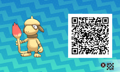 058 Pokemon Sun and Moon Shiny Smeargle QR Code