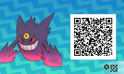 063 Pokemon Sun and Moon Mega Gengar QR Code