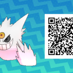 063 Pokemon Sun and Moon Shiny Mega Gengar QR Code