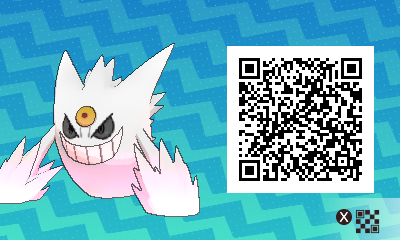 063 Pokemon Sun and Moon Shiny Mega Gengar QR Code