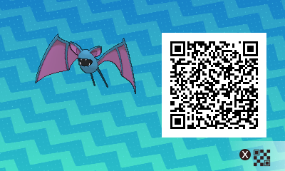 068 Pokemon Sun and Moon Female Zubat QR Code