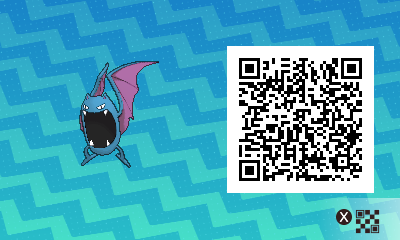 069 Pokemon Sun and Moon Male Golbat QR Code