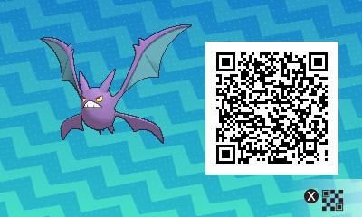 070 Pokemon Sun and Moon Crobat QR Code
