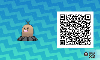 071 Pokemon Sun and Moon Alolan Diglett QR Code