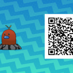 071 Pokemon Sun and Moon Shiny Alolan Diglett QR Code