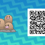 072 Pokemon Sun and Moon Dugtrio QR Code