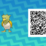 073 Pokemon Sun and Moon Shiny Spearow QR Code