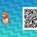 073 Pokemon Sun and Moon Spearow QR Code
