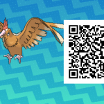074 Pokemon Sun and Moon Fearow QR Code