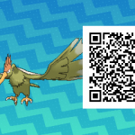 074 Pokemon Sun and Moon Shiny Fearow QR Code