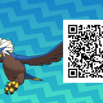 076 Pokemon Sun and Moon Shiny Braviary QR Code