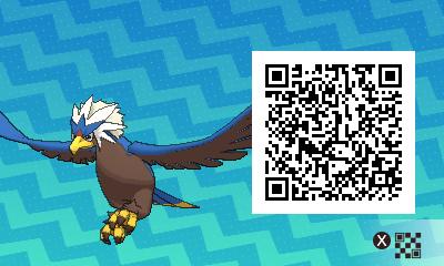 076 Pokemon Sun and Moon Shiny Braviary QR Code