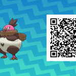 077 Pokemon Sun and Moon Shiny Vullavy QR Code