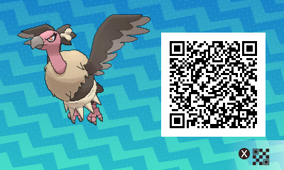 078 Pokemon Sun and Moon Mandibuzz QR Code