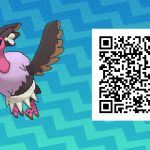 078 Pokemon Sun and Moon Shiny Mandibuzz QR Code