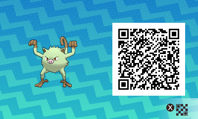079 Pokemon Sun and Moon Shiny Mankey QR Code