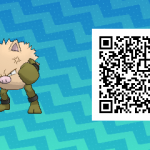 080 Pokemon Sun and Moon Shiny Primeape QR Code