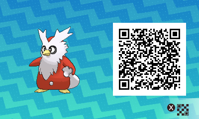 081 Pokemon Sun and Moon Delibird QR Code
