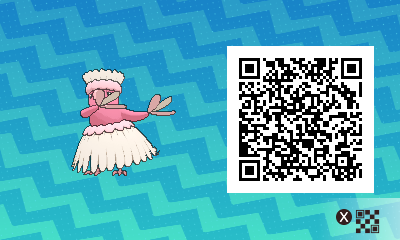 082 Pokemon Sun and Moon Pau Oricorio QR Code