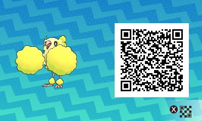 082 Pokemon Sun and Moon Pom Pom Oricorio QR Code