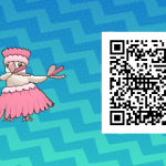 082 Pokemon Sun and Moon Shiny Pau Oricrio QR Code