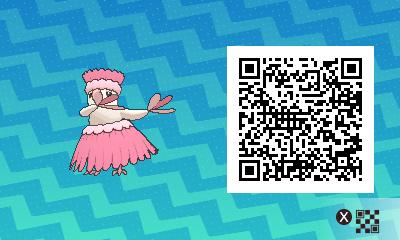 082 Pokemon Sun and Moon Shiny Pau Oricrio QR Code
