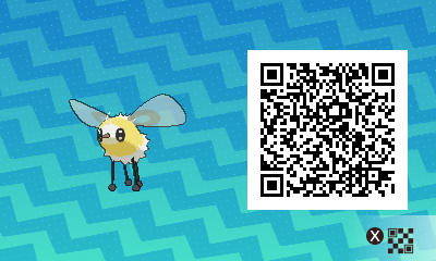 083 Pokemon Sun and Moon Cutiefly QR Code